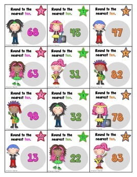 Rounding 2 and 3 Digit Numbers Bundled Pack with Rockin Rounders