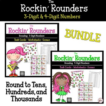 Rounding 3 and 4 Digit Numbers Bundled