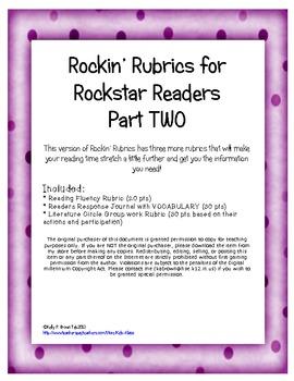 Rockin' Rubrics for Rockstar Readers TWO