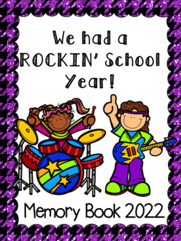 """End of the Year Memory Book... """"Rockin' School Year"""""""