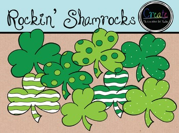 Rockin' Shamrocks - Digital Clipart