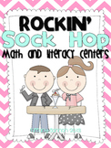 Rockin' Sock Hop Math and Literacy Centers