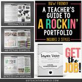 *NEW* A Teacher's Guide to a Rockin' Portfolio (3 template