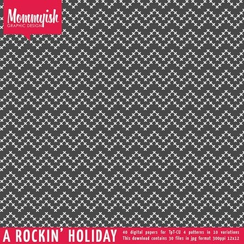 Rockin' The Holidays | 40 Digital Papers for TpT CU