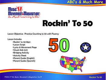 Rockin' To 50 Song (Mp3), Visual Aids and Activities