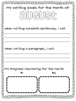 Rockin' Writing Goals!