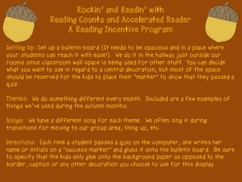 Rockin' and Readin' with Reading Counts and Accelerated Reading Autumn Edition