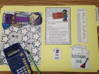 Rockin' and Rollin' Math Review Game (File Folder)
