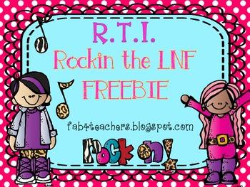 Rockin' the LNF FREEBIE (Letter Naming Fluency)