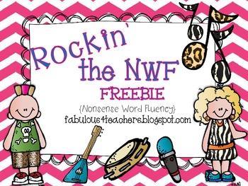 Rockin' the NWF Freebie (Nonsense Word Fluency)