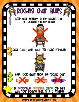 Rocking Chair Rules Poster - Flexible / Alternative Seating