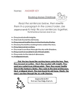 Rocking Horse Christmas activities
