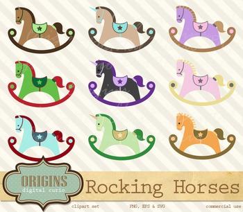 Rocking Horses Clipart