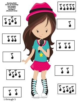 Rocking Math Cover up Counting and Number Recognition Through 6 (Common Core)