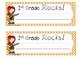 Rocking Name Desk Plates -  Orange & Turquoise Chevron