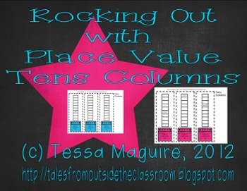 Rocking Out with Place Value- Tens Columns Freebie
