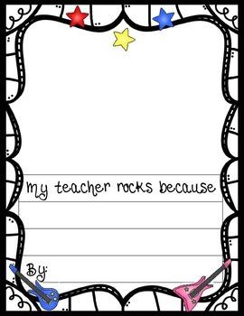 Rocking Teacher Appreciation Pack