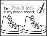 Rocking in My School Shoes Coloring Page