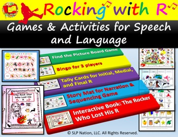 Rocking with R Fun Pack: Games and Activities for Speech and Language