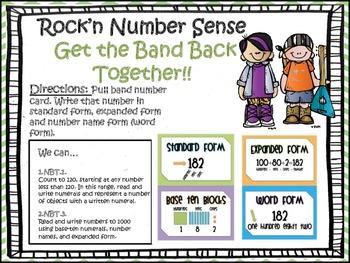 Rock'n Number Sense!! (Place Value Knowledge)