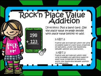 Rock'n Place Value Addition & Subtraction!