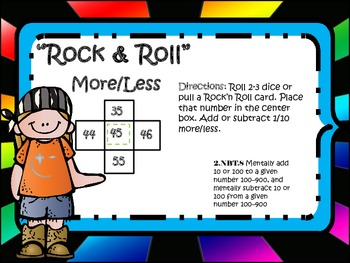 Rock'n Roll Mental Math (Mentally add and subtract 1 & 10)