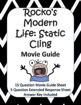 Rocko's Modern Life: Static Cling Movie Guide - NEW!