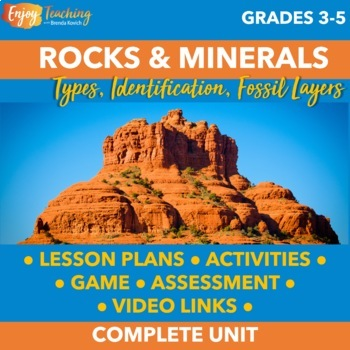 Geology Unit: Rocks and Minerals for Third, Fourth, and Fifth Grade