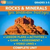 Geology Unit: Rocks and Minerals for Third, Fourth, and Fi