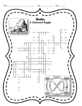 Rocks - A Crossword Puzzle