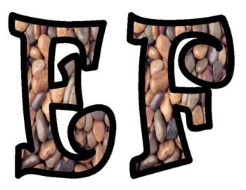 Rocks or Stone Bulletin Board Letters