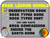 Rocks Bundle: Observation, Types, Comparison, Inside Earth Book and Sort