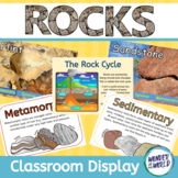 Rocks Classroom Display Board Materials (Geology, Rock Cycle)