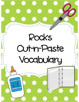 Rocks Cut-n-Paste Vocabulary