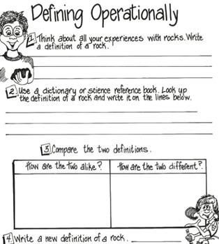 Rocks: Defining Operationally with Rocks