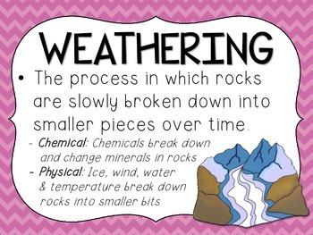 Rocks, Erosion, & Weathering Poster Set