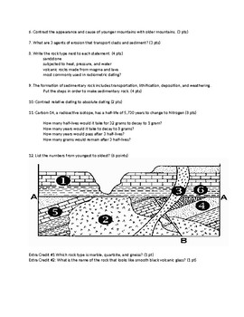 Rocks Exam/Test