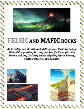 Rocks:  FELSIC and MAFIC Igneous Rocks (Portion of Larger Igneous Tutorial)