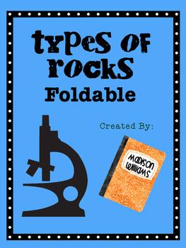 Rocks Foldable; Sedimentary Igneous Metamorphic Science Activty