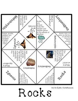Rocks Fortune Teller and Crossword