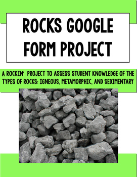 Rocks Google Form Project