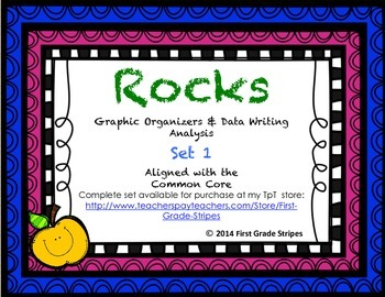 Rocks Graphic Organizers Set 1