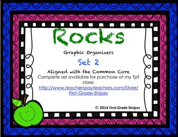 Rocks Graphic Organizers, Set 2