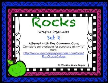Rocks Graphic Organizers, Set 2