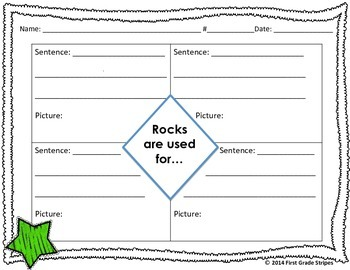 Rocks Graphic Organizers, Set 3