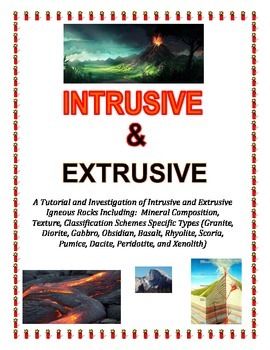 Rocks:  INTRUSIVE and EXTRUSIVE Igneous Rocks (Part of Larger Igneous Tutorial)