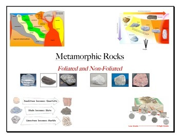 Rocks: METAMORPHIC ROCK (Foliation) VENN DIAGRAM (2 Levels)