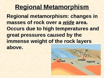 Rocks: METAMORPHIC ROCK PowerPoint (Rock Type Summary for LAB Prep)