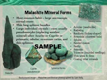 Rocks & Minerals Unit Study: The Peacock Stone, Malachite
