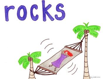 Rocks Me to Sleep Cartoon--Printable Montessori Homonym Cards